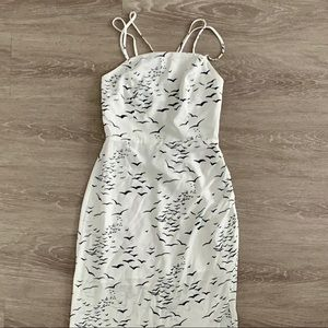 New BCBGeneration Printed Strappy Back Maxi Dress